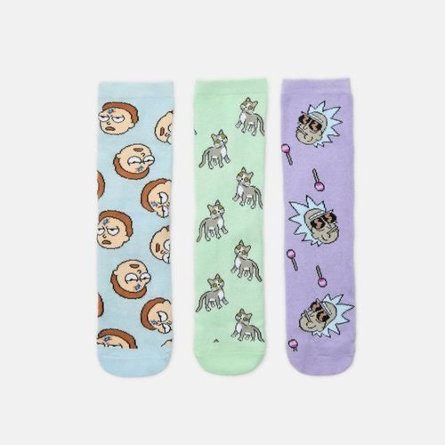 Cropp - 3 pack skarpet Rick and Morty - Wielobarwny 39.99PLN