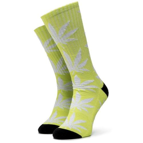 Skarpety Wysokie Damskie HUF - Plantlife Metallic Leaves Sock SK00447 r.OS Hot Lime 69.00PLN